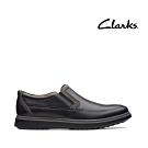 Clarks UN 全皮面套入式正裝休閒兩用鞋 黑色