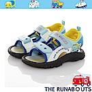 三麗鷗 THE RUNABOUTS童鞋 輕量減壓運動休閒涼鞋-水