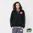 男裝ROOTS  加拿大系列刷毛立領上衣-黑色