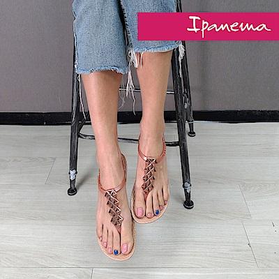 IPANEMA 典雅炫彩人字拖鞋-玫瑰金