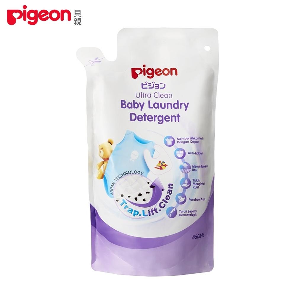 【任選】日本《Pigeon 貝親》嬰兒洗衣精補充包450ml