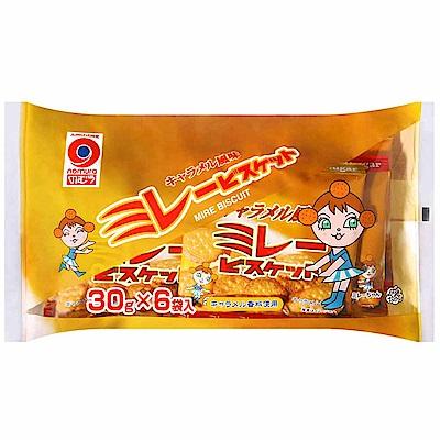 野村煎豆 美樂圓餅-焦糖風味6包入(180g)