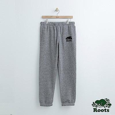 Roots 男裝-經典棉質長褲-芝麻灰色