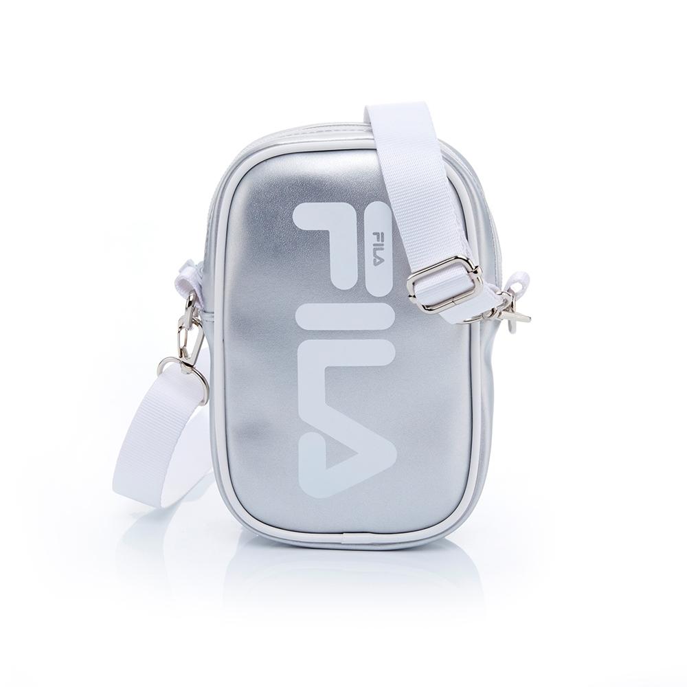 FILA 小斜背包-銀色 BST-5411-SV
