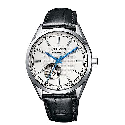 CITIZEN星辰 開芯鏤空時尚機械腕錶(NH9111-11A)