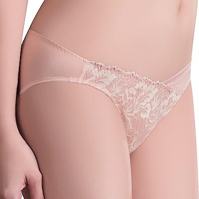 思薇爾 撩波葉之舞系列M-XXL蕾絲低腰三角內褲(羽透膚)