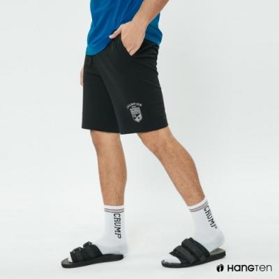 Hang Ten - 男裝 - 抽繩綁帶數字logo運動短褲 - 黑