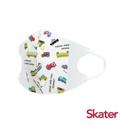 Skater兒童立體口罩-活力車車(10入/包)共6包