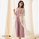 東京著衣 唯美春天透肌網紗蕾絲外罩上衣(共一色)