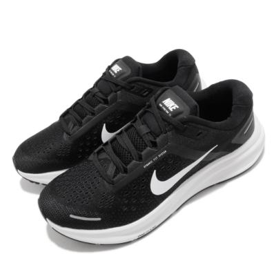 Nike 慢跑鞋 Zoom Structure 23 女鞋 氣墊 避震 路跑 運動 健身 球鞋 黑 白 CZ6721001