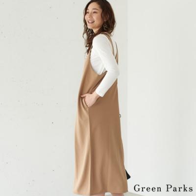 Green Parks 【SET ITEM】圓領長T恤+吊帶剪裁連身裙