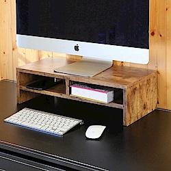BuyJM低甲醛復古風防潑水雙層螢幕架/桌上架54x24x16.3公分