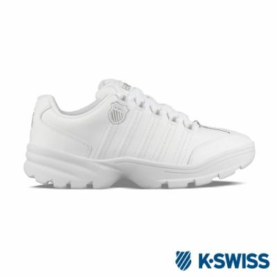 K-SWISS Altezo復古老爹鞋-男-白/銀