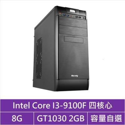 華碩H310平台[鋼彈槍兵]i3四核GT1030獨顯電腦