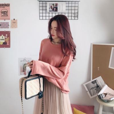 DoMiss柔軟百搭捲邊兔絨針織毛衣(5色)