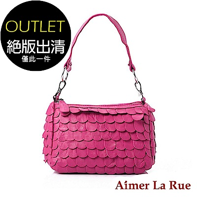 Aimer La Rue 花瓣造型手提側背包(桃紅色)(絕版出清)