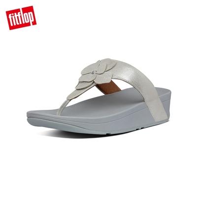 FitFlop LOTTIE CORSAGE SUEDE TOE-THONGS 麂皮花朵夾腳涼鞋-女(銀色)