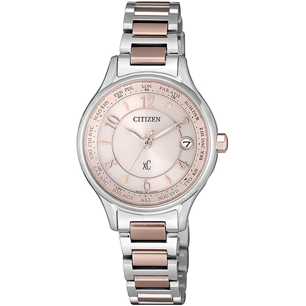 CITIZEN 星辰XC限量櫻花粉紅光動能腕錶廣告款 EC1167-55W