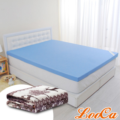 (破盤組)LooCa 花焰超透氣5cm全記憶床墊-雙人5尺