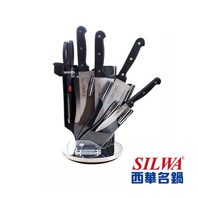 SILWA西華 六件式刀具組-360°旋轉壓克力刀架
