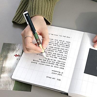 ICONIC 復古夢快乾0.5中性原子筆兩入組-黑墨A/B