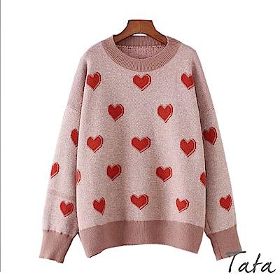 愛心針織上衣 TATA