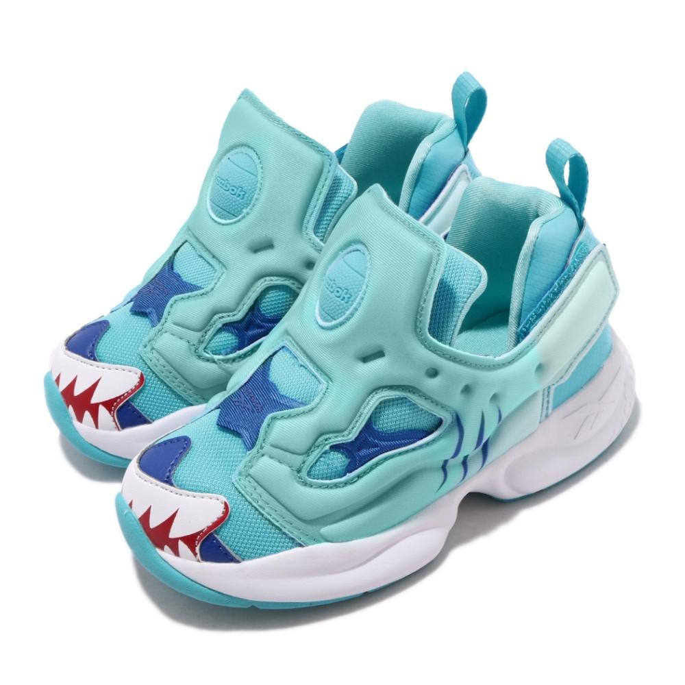 Reebok 休閒鞋 Fury INF 襪套 運動 童鞋 經典款 輕便 舒適 穿搭 小童 淺藍 白 EG6268