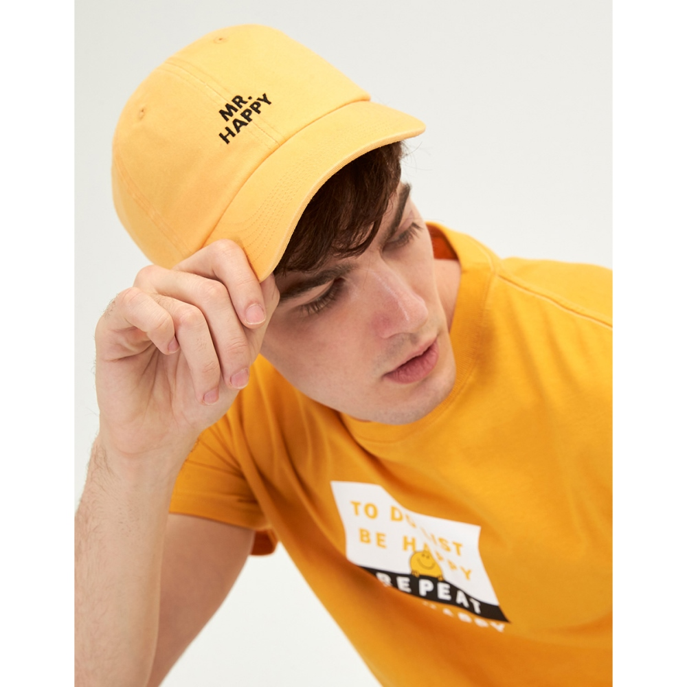 CACO-快樂先生電繡帽(兩色)-男【SMM013】