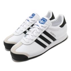 adidas 休閒鞋 Samoa 復古 低筒 男女鞋 海外限定 愛迪達 三葉草 皮革鞋面 情侶 白 黑 675033