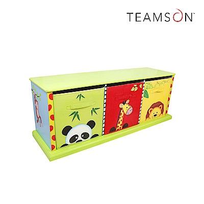 Teamson 兒童木製玩具三格收納櫃 (2款)