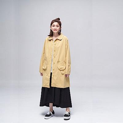 Dailo INLook 小熊造型口袋長版及膝洋裝(黃色)