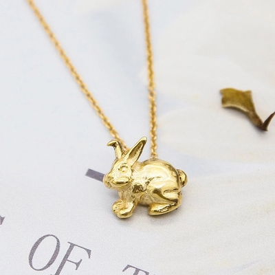 Dogeared 美國品牌Reminder金色許願項鍊-兔子