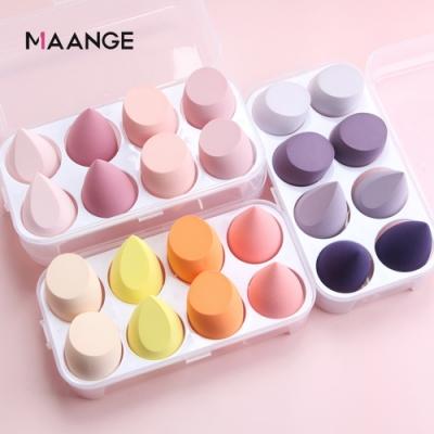 MAANGE 美妝蛋 盒裝8顆 化妝海綿 乾濕兩用 不吃粉 不卡粉 彩妝蛋(8入)