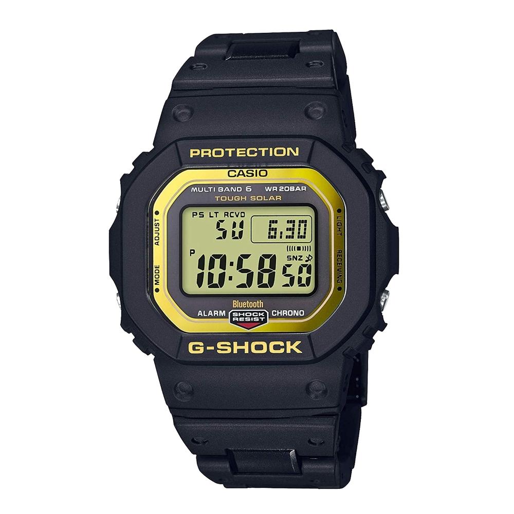 G-SHOCK 帥氣黑金風格太陽能藍牙電波運動休閒錶(GW-B5600BC-1D)