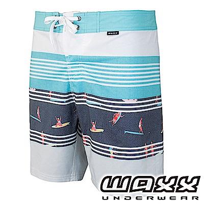 WAXX 衝浪系列-休憩好時光拼接快乾型男衝浪褲(17英吋)