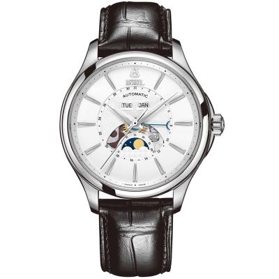 ERNEST BOREL 瑞士依波路錶 公爵系列 不鏽鋼月相錶-白色41mm