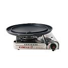 卡旺K1-A003SD攜帶式卡式爐+韓國原裝大理石雙用圓烤盤NY2499(直徑37CM)