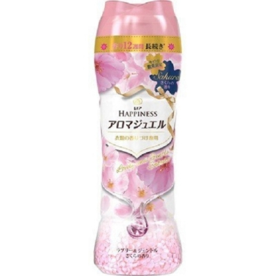 日本版【P&G】HAPPINESS幸福寶石衣物芳香粒 2020限定版香香豆520ml 和煦櫻花