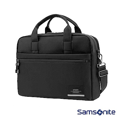 Samsonite新秀麗 Vestor商務保護隔層筆電公事包M(黑)