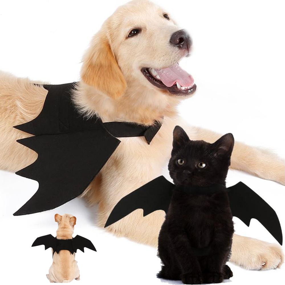 摩達客 寵物萬聖節派對-黑色小惡魔蝙蝠翅膀 貓咪大狗小狗變身裝