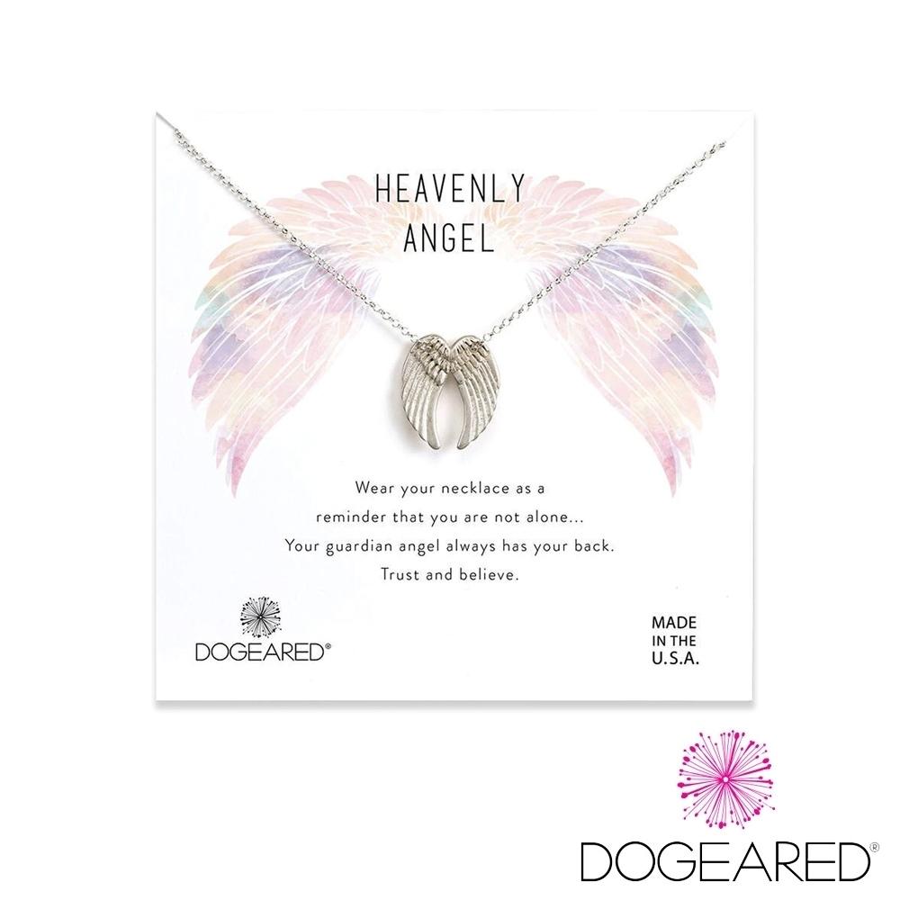 美國DOGEARED 天使之翼純銀祈願項鍊 Heavenly Angel