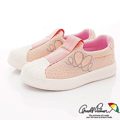雨傘牌 專櫃亮鑽貝殼休閒鞋款 EI93651粉紅(中小童段)