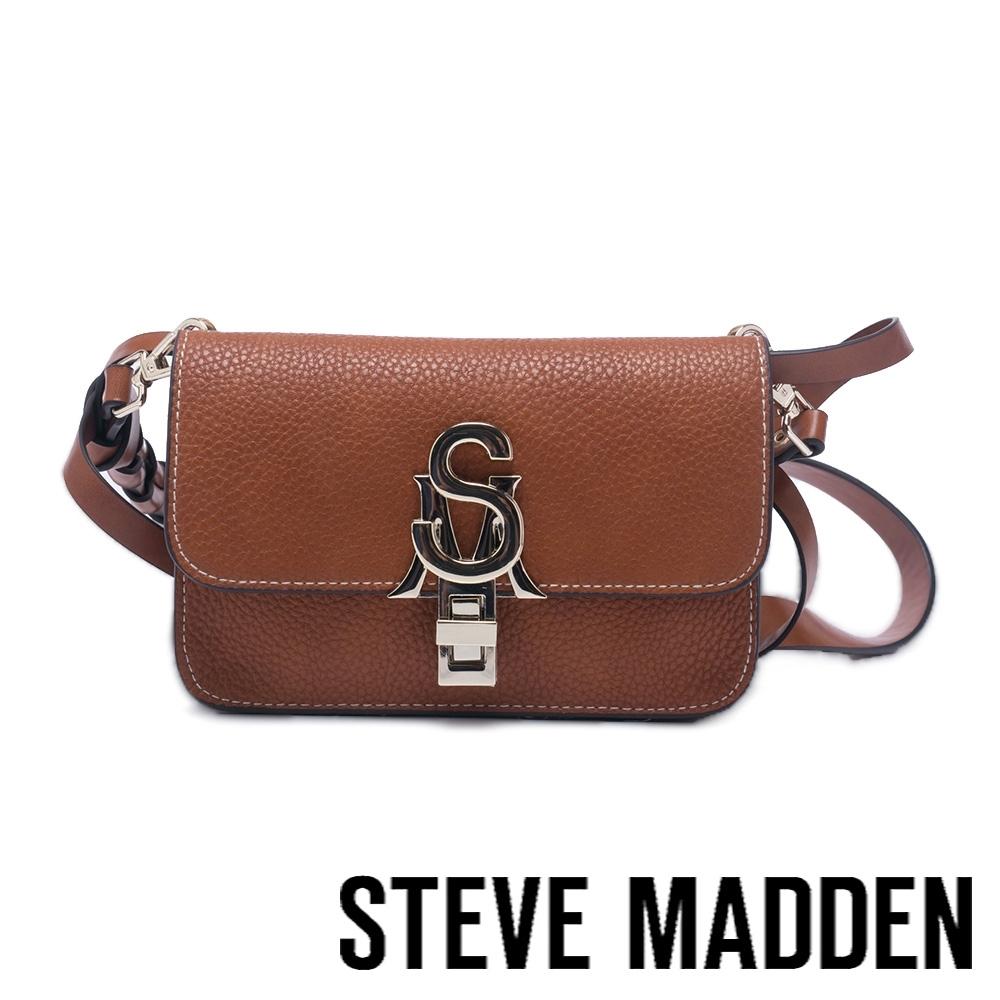 STEVE MADDEN-BLACE 皮革金屬扣信封包-咖啡色