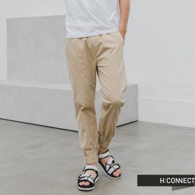 H:CONNECT 韓國品牌 男裝 -簡約抽繩牛仔褲-卡其