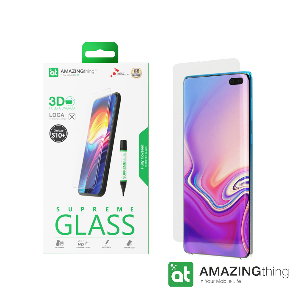 AMAZINGthing 三星 S10 Plus 滿版強化玻璃保護貼(LOCA) @ Y!購物