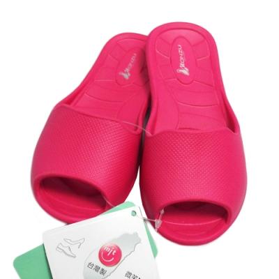 MONZU 環保兒童室內拖鞋 3雙入-桃紅色/綠色