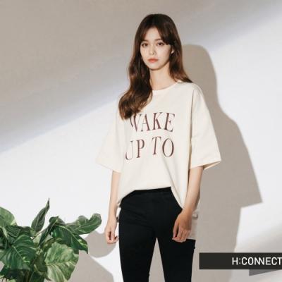 H:CONNECT 韓國品牌 女裝- 微彈性合身牛仔黑褲-黑