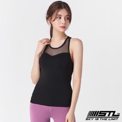 STL Yoga Bra top SS Slim Mesh 韓國 自然美型 運動機能背心(含專利胸墊) 透膚平衡網黑