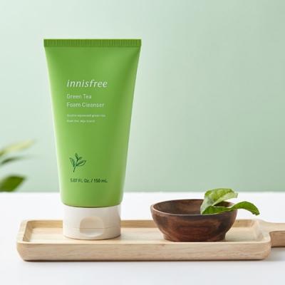 【Innisfree】綠茶保濕潔顏泡泡