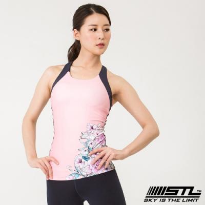 STL yoga bra-T 韓國 運動機能快速排汗 挖背心上衣 (含專利胸墊) 櫻花粉